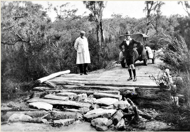 Washed out bridge on the Manjimup to Nornalup road