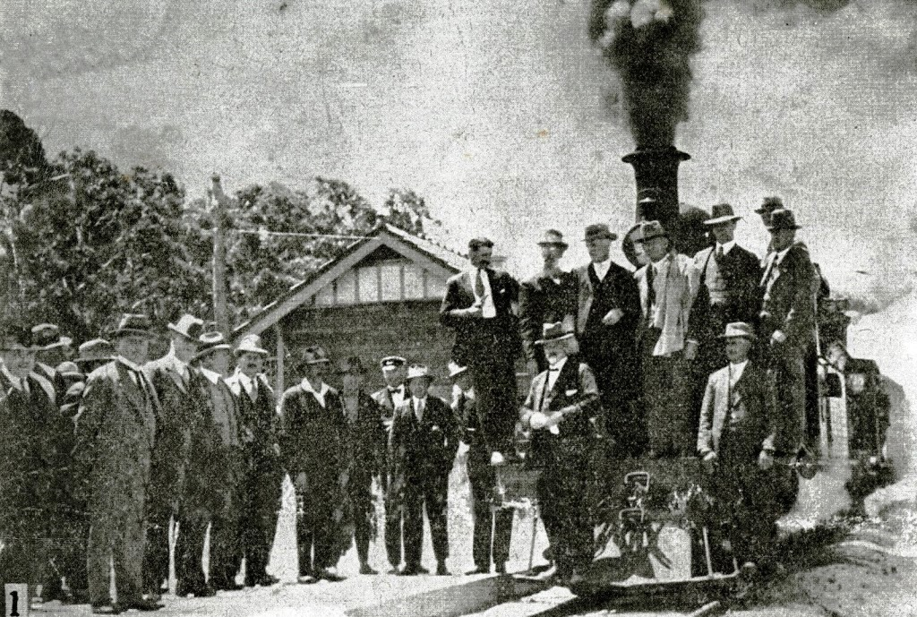 The official opening of the Denmark to Nornalup train line at the Nornalup end, December 1930