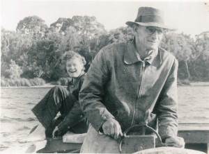 Frank Thompson with a guest at Peppermints c. 1940s (WNDHS)