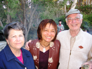 (L-R) Jennifer Willcox (the author), Rosemarie Lee Warnock, and Geordie