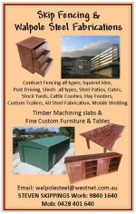 Skip fencing & Walpole Steel Fabrications