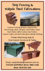 Skip fencing & Walpole Steel Fabrications