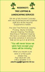 Roderick's Tree Lopping & Landscaping