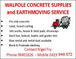 Walpole Concrete Supplies and Earthmoving Service