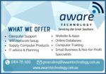 AWARE TECHNOLOGY-SERVICING THE GREAT SOUTHERN