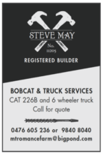 STEVE MAY Registered Builder – Bobcat & Truck Services