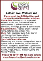 Walpole Sport & Recreation Centre