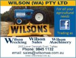 Wilson(WA) P/L –  Wrecking, Sales & Machinery