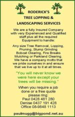 Roderick's Tree Lopping & Landscaping Service