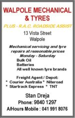 Walpole Mechanical and Tyres